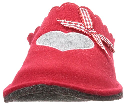 Canadians 542-055 Chaussons pour femme Rouge avec motif cœur Tailles 27 à 42