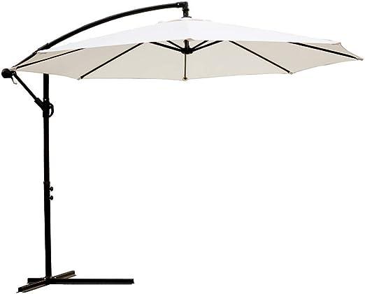 RBH Patio Umbrella Exterior Cantilever Umbrella Exterior Jardín Grande Patio Sombrilla Inclinación de ángulo Ajustable - para Patio Patio Jardín Jardín Comedor al Aire Libre: Amazon.es: Hogar