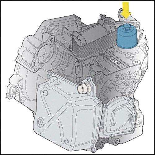 Voir Illustration HAZET 2169-24 Cl/é pour filtres vidange dhuile de bo/îtes de Vitesses DSG