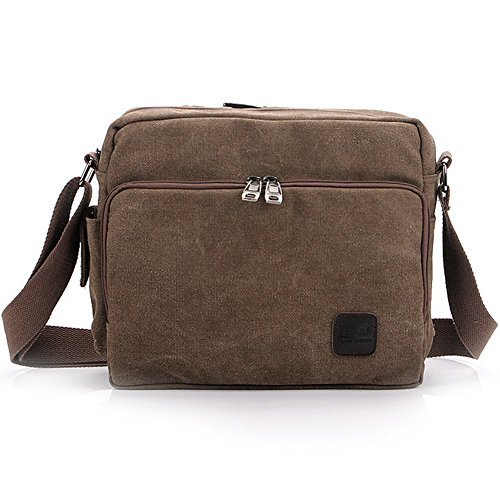 Messenger Canvas Pelisy Shoulder Multifunction Mens Bag Casual Coffee Crossbody Everyday wxwAtEvqWg