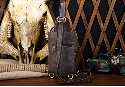 Genuine Leather Mens Shoulder Gray Ynxing Bag EC8vq