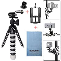 Fantaseal DSLR Camera + Action Cam + Smartphone Robust Octopus Tripod 3-in-1 Flexible Gorillapod for iPhone Samsung + Canon Nikon Camera/Comcorder+GoPro Sony Xiaomi Yi Tripod Selfie Stand Holder