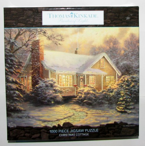 Thomas Kinkade 1000 Pc Jigsaw Puzzle~CHRISTMAS COTTAGE by Ceaco