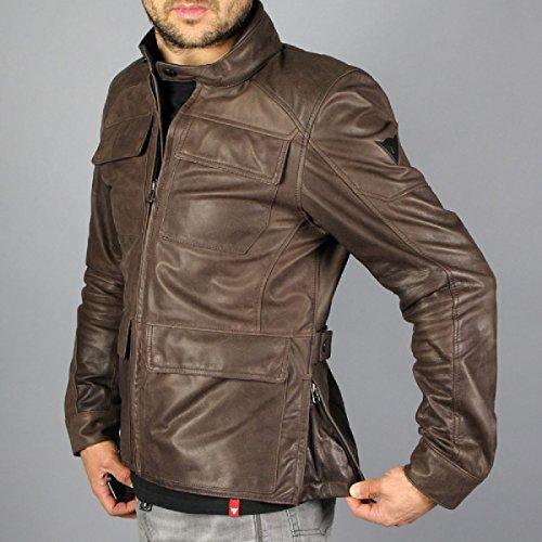 Amazon.com: Dainese Richard Leather Classic Motorcycle Jacket Dark Brown 50 Euro/40 USA: Automotive