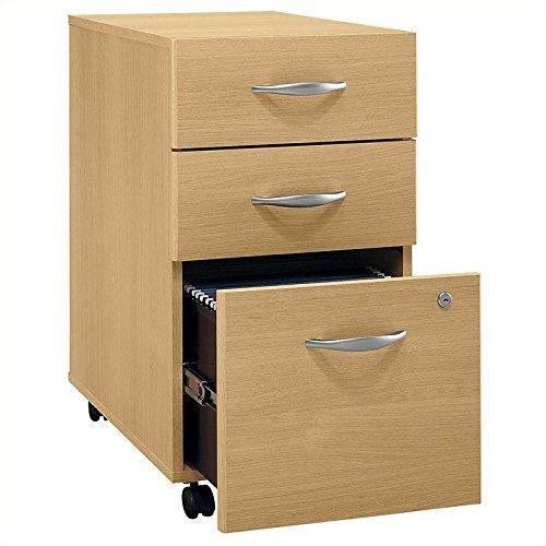 Bush Series C: Light Oak Three Drawer File Cabinet