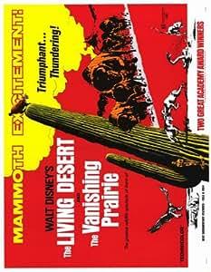 Desierto viviente, el/la pradera evanescente Póster de película 11 x 14 en - Winston Hibler 28 x 36 cm