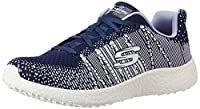 Skechers Burst Ellipse Navy Multi Womens Trainers Shoes-5