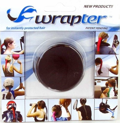 Wrapter Hair Wrap (Black, One Size)