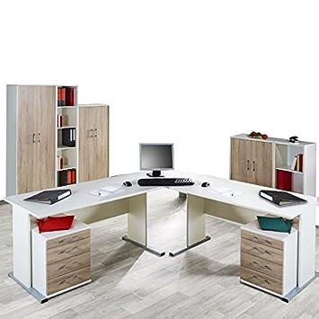 Arbeitszimmer Lomado Komplett Büromöbel Set In Weiß C
