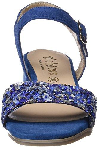 DCHICAS 3857 Piedra Azul, Sandalia con Pulsera Para Mujer Azul (Blue)