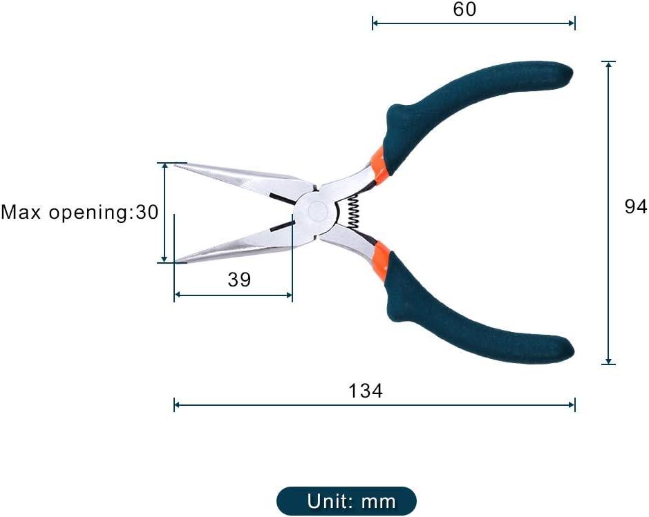 LEONTOOL verde diagonales convexos tama/ño mini para el hombro Alicates de punta larga para bisuter/ía