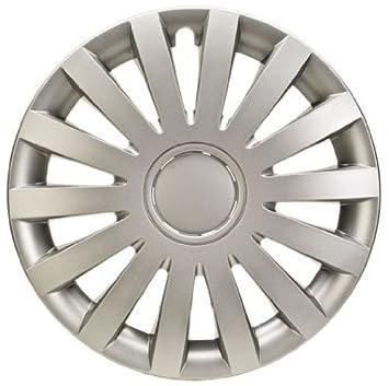 4 Tapacubos Tapacubos tipo Wind Plata apta para Alfa 14 pulgadas Llantas de Acero: Amazon.es: Coche y moto