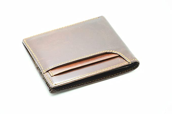 Amazon.com  JJNUSA RFID Blocking Genuine Leather WalletS for Men ... 3013787b32