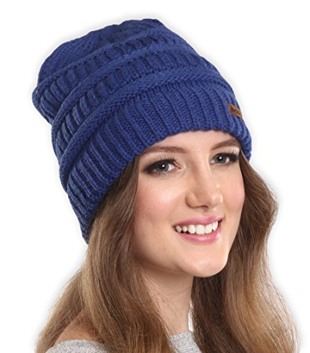 Brook + Bay Women's Cable Knit Beanie - Thick, Soft & Warm Chunky Beanie Hats for Winter - Serious Beanies for Serious Style (with 8+ Colors)