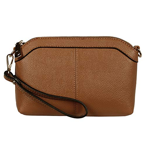 Diter Leather Wristlet Zipper Clutch Wallet Crossbody Bag Purse