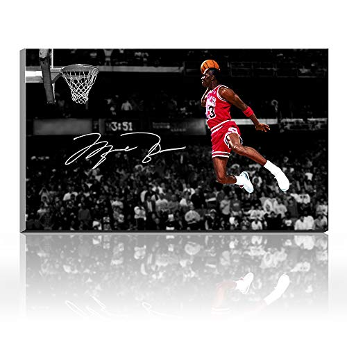 Karen Max Michael Jordan Autographed Inscribed Wings Air Jordan Decor Team Sports Poster Oil Painting Canvas Prints Pictures Artwork