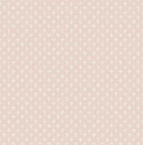 - Petite Fleur de lis Wallpaper in Blush FS50511 from Wallquest