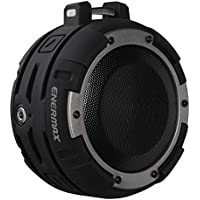 Enermax EAS03-BS Omarine Waterproof Wireless Speaker, 3.5mm Aux Input, IPX8 Rating, Black & silver