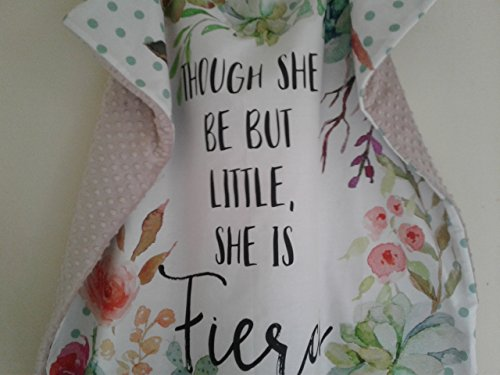 Personalized Though She Be Little fierce Baby Blanket (Dye Blanket Infant)
