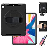 Miesherk iPad Pro 12.9 (3rd Generation) 2018 Case, Heavy Duty Case with Stand+Hand Strap+Shoulder Strap+Pencil Holder Shockproof Durable Case for Newest iPad pro 12.9 inch 2018 Released