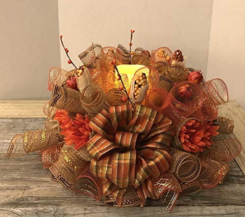 (Handmade Fall Centerpiece/Candle Ring 20