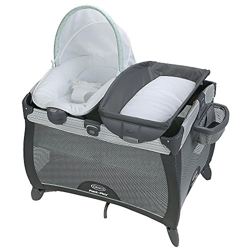 Graco Pack 'n Play Playard Quick Connect Portable Napper with Bassinet Asher
