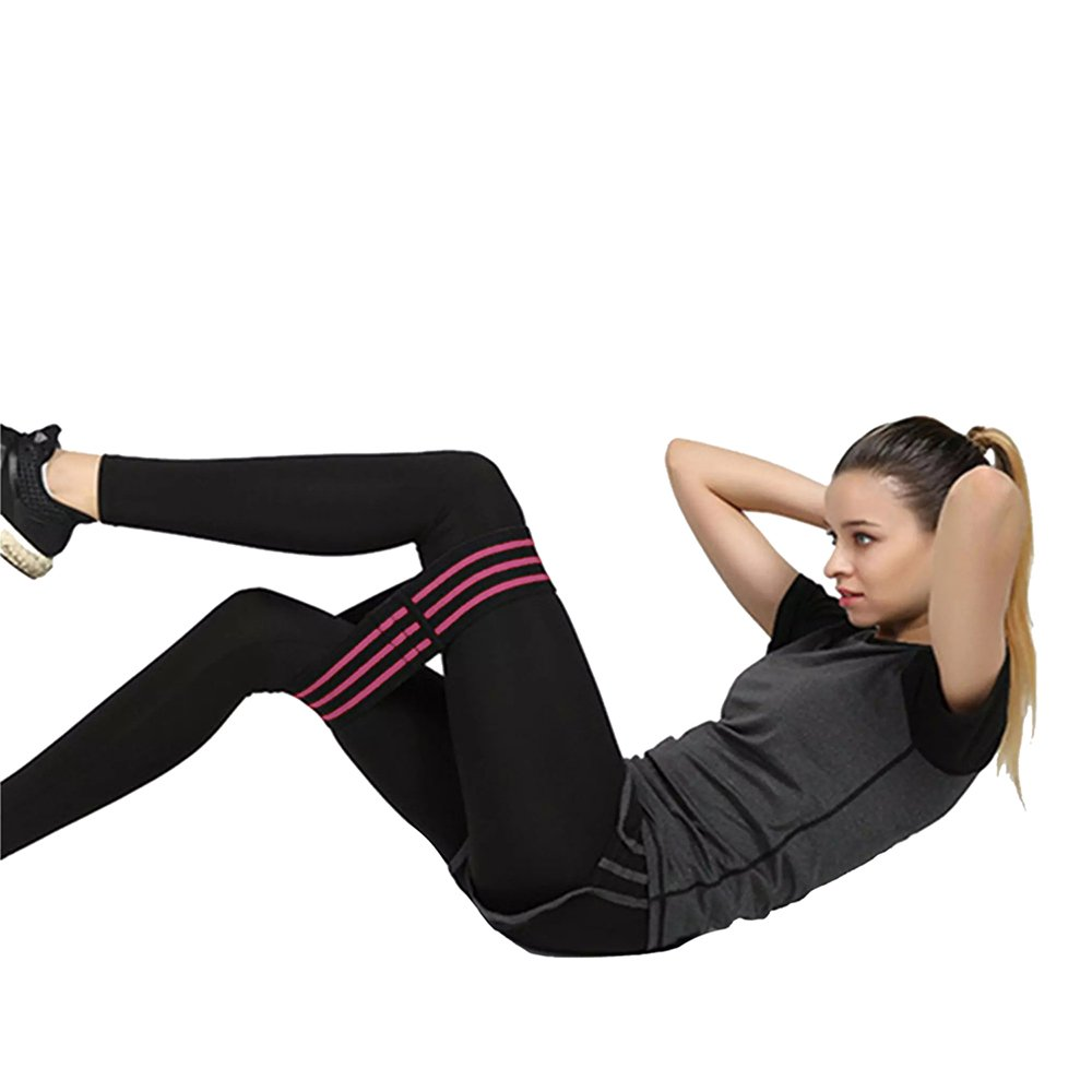 Great for Booty Exercises SPORTXGEAR Resistance Glutes Workout Band Soft Cotton Non-Slip Hip Band Exercise Legs Thighs Fit Workout Yoga