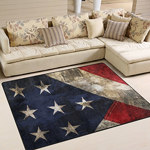 dirty stylish american flag area