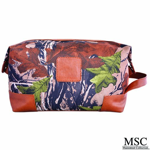 Mainstreet Camo Print Men's Dopp Kit Vintage Style Travel Luggage Toiletry Bag Travel Kit by Main - Main Shopping Street Perth