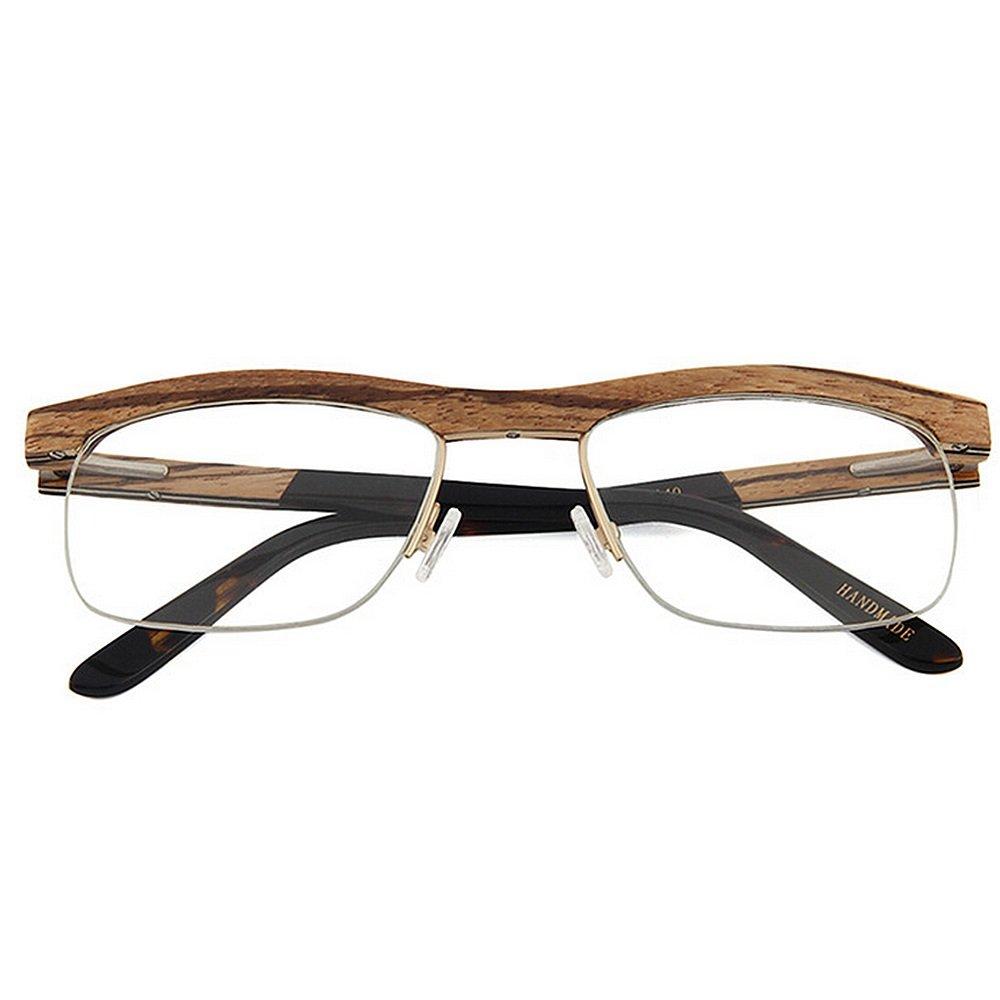 KSUNSEVEN de Gafas Semi-sin Montura B06XCS3M31 de Madera Hechas a ...