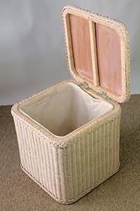 "Cesto para la colada/para la ropa sucia ""cuadrado"" ovillo de tostadas White, 47 x 47 cm H 47 cm"