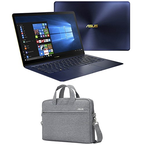 "Price comparison product image ASUS ZenBook 3 Deluxe,  UX490UA-XH74-BL (i7-8550U,  16GB RAM,  2TB Samsung NVMe SSD,  14"" Full HD,  Windows 10 Pro) Ultrabook - Royal Blue"