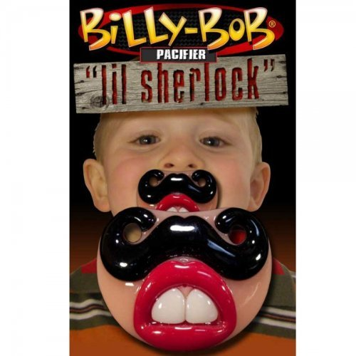 USA Billy Bob Pacifier Baby Teether Pacy Orthodontic Nipples Lip Novelty LIL SHERLOCK by Preciastore