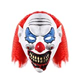 UNOMOR-Halloween-Scary-Clown-Mask-with-Red-Hair-for-Adults-Costume-Party