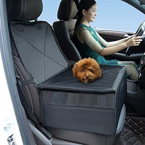 ZJWZ Mascotas Asiento Cubierta Pet Mat Cama para Coche SUV Camión Perro Cachorro Asiento Protector Mat,Black