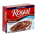 Royal Instant Pudding, Sugar Free Chocolate, 2.10-Ounce Boxes (Pack of 24)