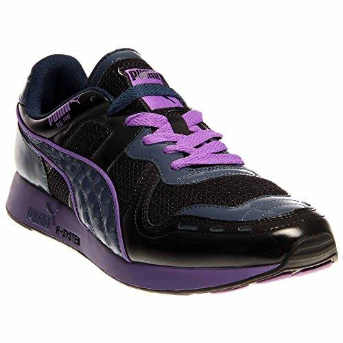 Dark Denim Footwear (PUMA Men's Rs100 Opulence Classic Sneaker,Black/Dark Denim/Fluorescent Purple,11.5 M US)