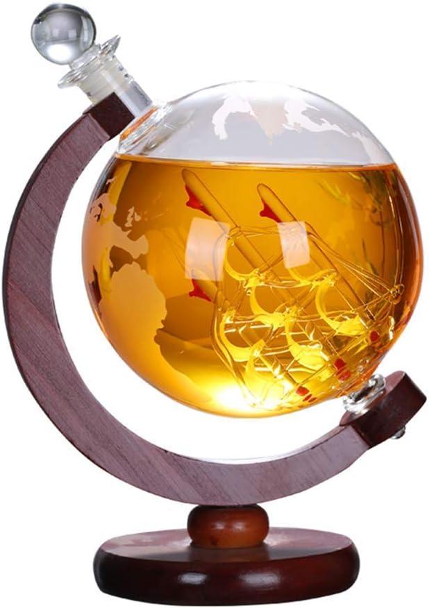 Sooiy 850 ml Hermoso Escritorio Whisky decantador Exquisito ...