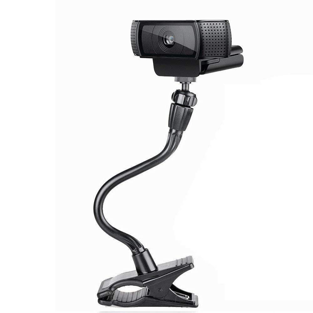 Smatree Flexible Jaws Clamp Clip Mount Holder for Logitech Webcam C925e C922x C922 C930e C930 C920 C615 by Smatree