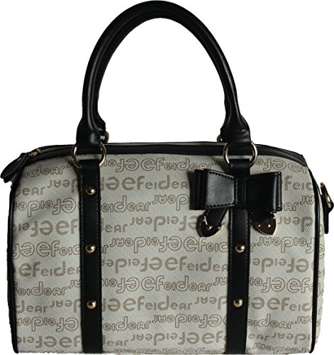 Max Enjoy H and Designer detail with Handbag amp; Ladies Bow Printed by Beige Motif amp;G Paris Shoulder 7q16T7