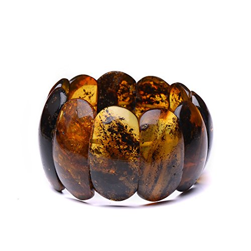 Massive and Unique Amber Bracelet for Woman - Genuine Baltic Amber - Certified 100% Genuine Amber Pieces by Genuine Amber