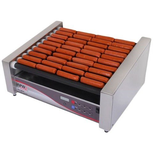 apw-wyott-hrdsi-31s-xpert-digital-hotrod-30-hot-dog-nonstick-roller-grill-19-1-2-slanted-top