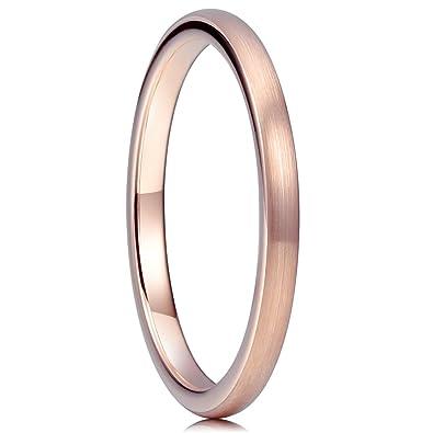 Amazoncom Three Keys Jewelry 2mm Tungsten Wedding Ring For Women