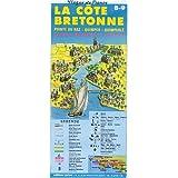 Carte routière : Côte bretonne - Pointe du Raz - Quimper