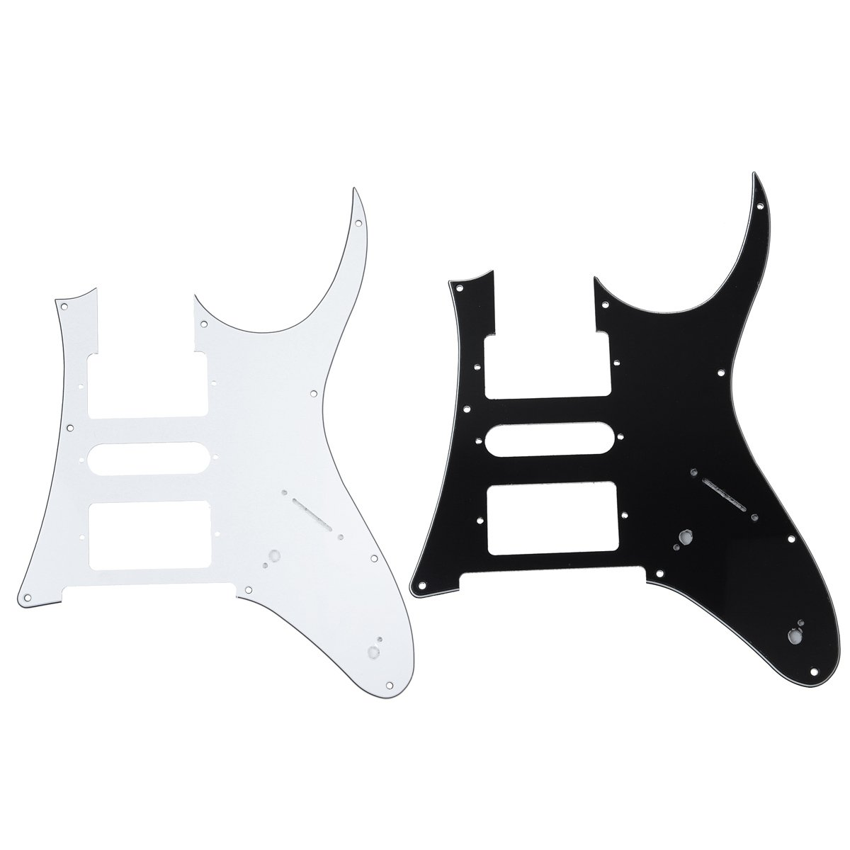 Kmise OT0155 2-Piece Different Electric Guitar Pickguard for Ibanez RG 750 Replacement