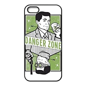 Archer Danger Zone ,TPU Phone case for iphone5 5s,black