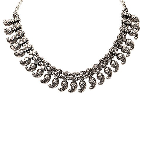 PANASH Antique Silver Elegant Choker Necklace for Women and Girls