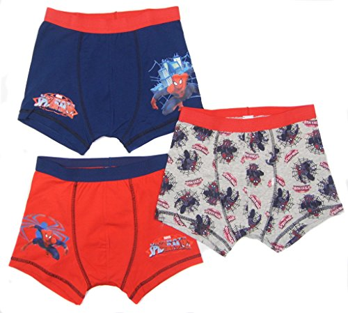 Boys Spider -Man Boxer Shorts Trunk Underwear Three Pack Ex Store 2-3 To 11-12Y