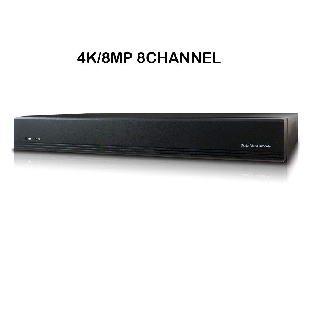 Microseven 4K/8MP 8-Channel NVR H.265 Security Network Video Recorder ONVIF 2.4 Supports Recording 8CH 4K/5MP/4MP/3MP/2MP IP Cameras Max. 8TB HDD 1X SATA (Not Included) Compatible with Alexa