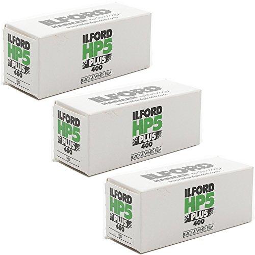 3 Rolls Ilford HP5 400 120 Film (Holga Film)